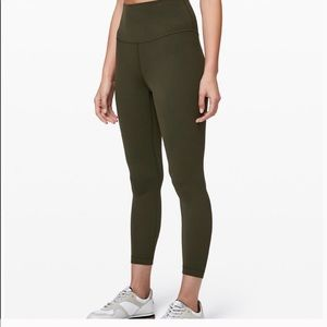 "Lululemon Align Pant II 25"" olive green size 0"